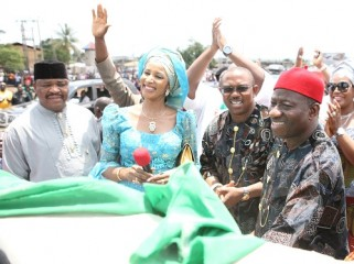 ANAMBRA, STATUE, GOODLUCK, OBI, BIANCA AND MIKE OLE