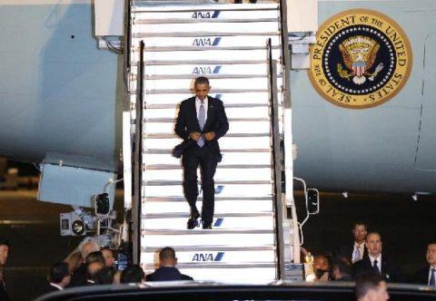 U.S. President Obama arrives in Japan on 4-nation Asia trip
