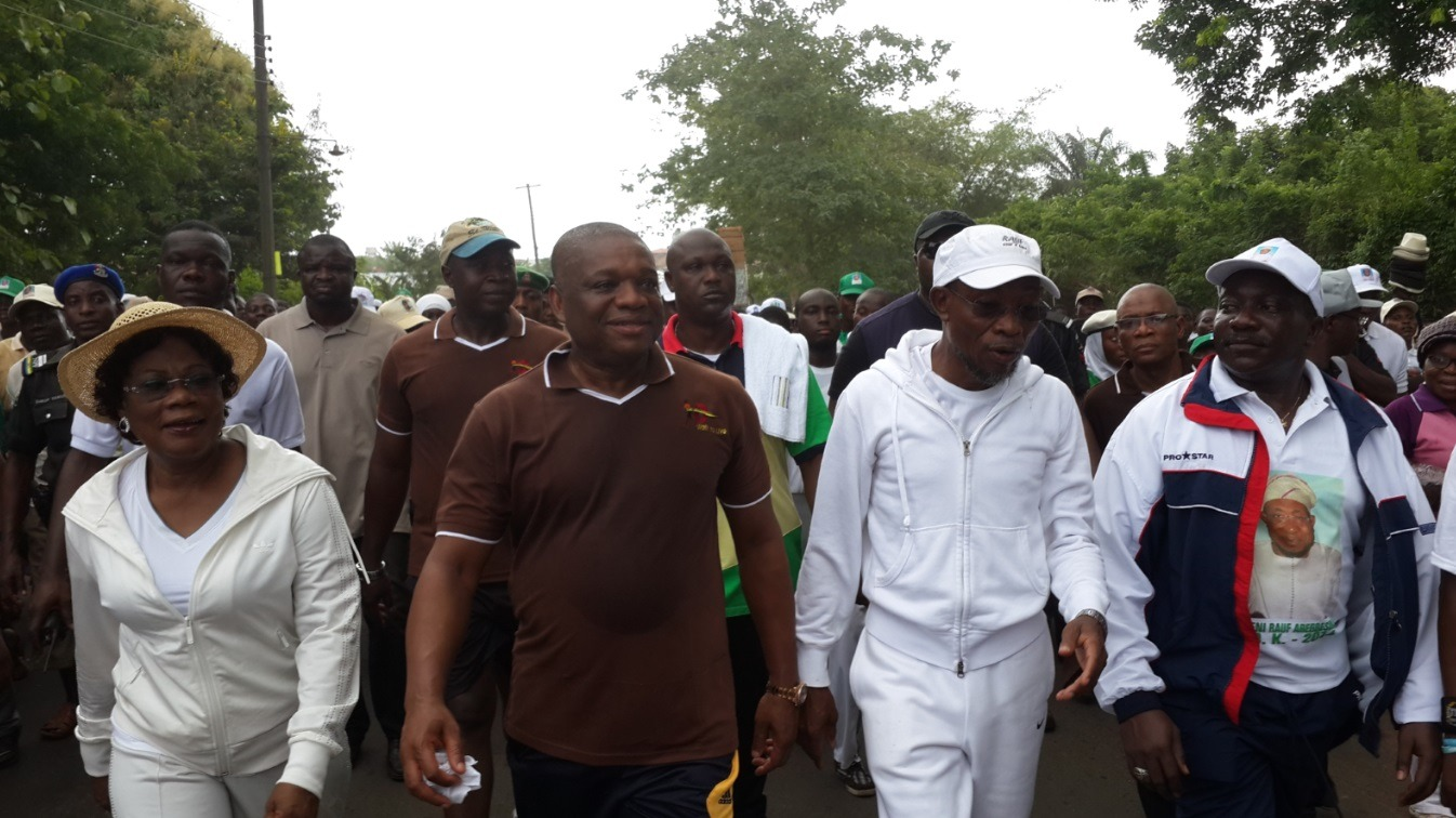 OUK campaigning for the APC Governor of Osun State