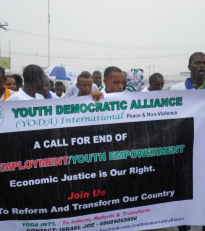 Youth group protest employment in Nigeria