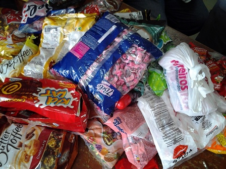 packs of candies containing cocaine