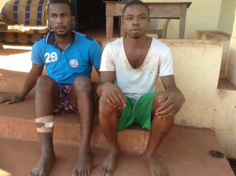 Onyekachi Ogbodo and Eze ozoemena arrested for car snatching and sending of threat message to unsuspecting people