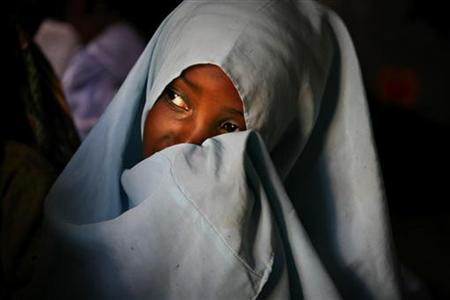 A Muslim girl attends a Koranic school on Zanzibar island in Tanzania