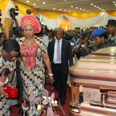 PhotoNews: Late Dora Akunyili's Coffin Arrives Anambra State