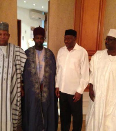 Refugee Emir Of Gwoza Meets Jonathan