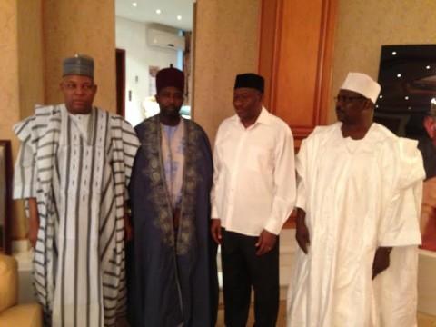 Refugee Emir with President Jonathan