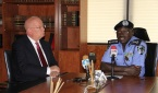 IGP SULEIMAN ABBA WITH H.E, JAMES F. ENTWISTLE, US AMBASSADOR TO NIGERIA DURING A COURTESY VIST ON THE IGP AT HIS OFFICE