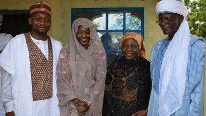Mohammad Sagir With His Wife Former Miss Amina Giade After  The Marriage With Mr And Mrs Hauwa Giade