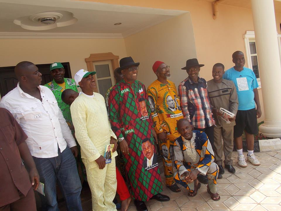 Prof Emeka Okoli with well wishers and supporters