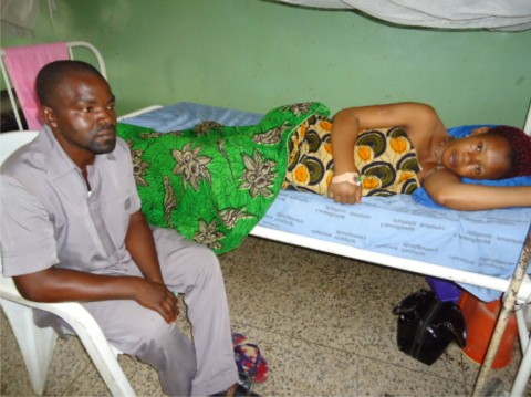 Mr. and Mrs Mbanwuchula at the hospital