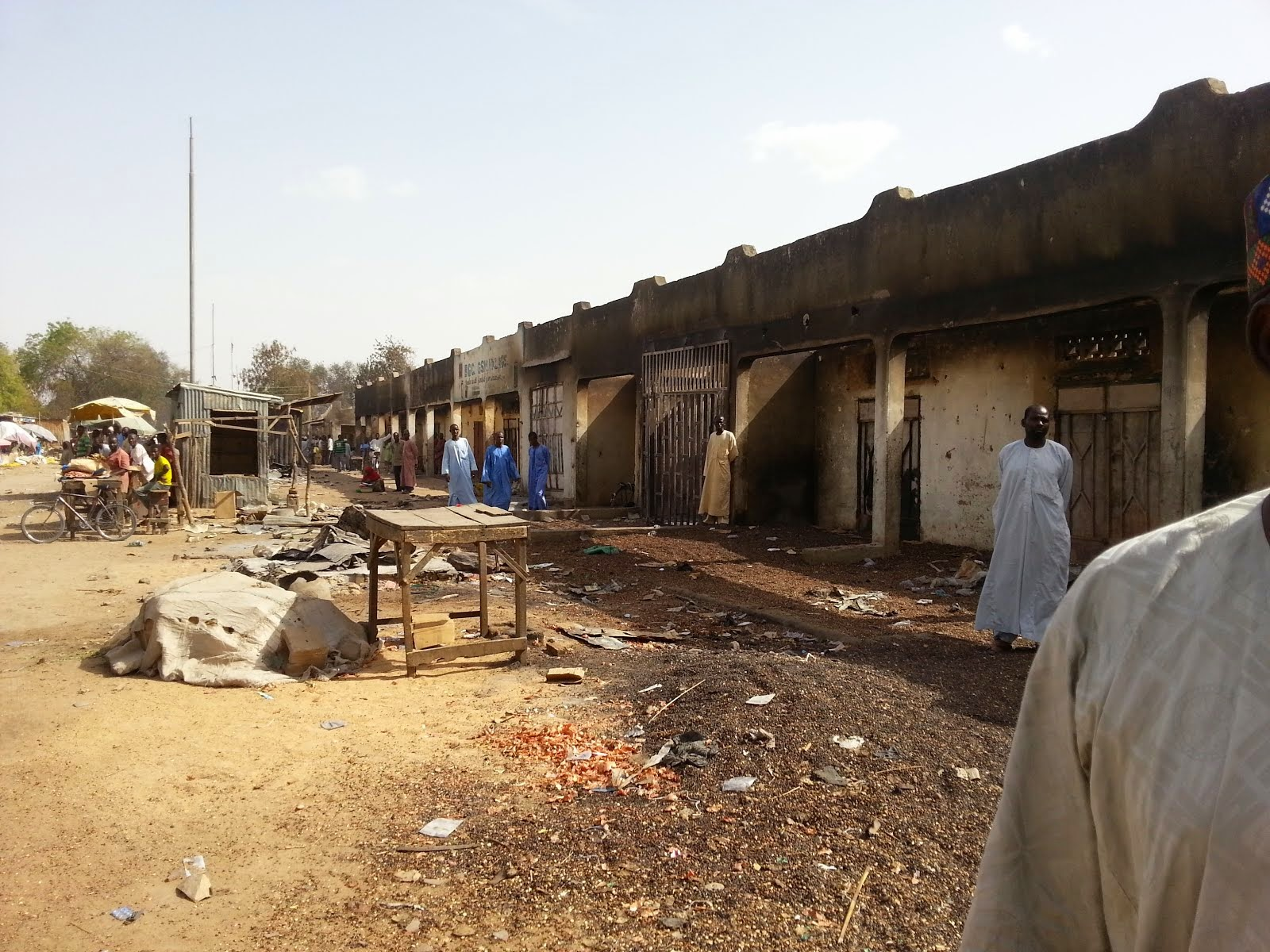 A Borno village market after the Boko Haram terrorists attacked recently