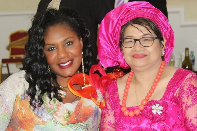 Her Excellency Chief (Mrs.) Ebelechukwu Obiano, with Leader of the Thai Delegation, Dr. Ratana Porn during the Cultural Night held at Governors Lodge Amawbia