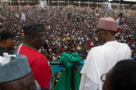 Buhari in Owerri recently.