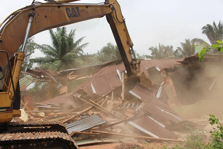 Eziowelle Kidnap Den demolished