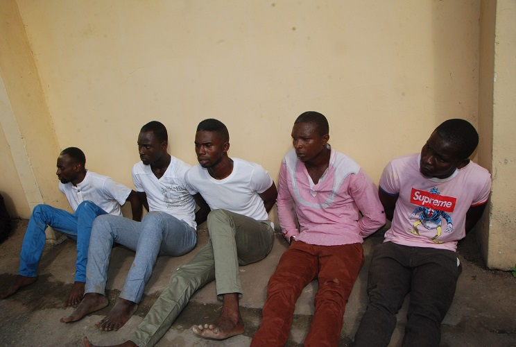 Five man kidnappers arrested and paraded by the DSS Owerri on Monday