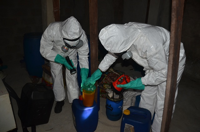 ndlea forensic officials at the lab