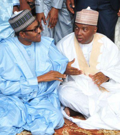 Sallah Prayers: President  Muhammadu Buhari and the Senate President, Dr. Abubakar Bukola Saraki