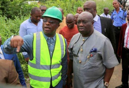 Ikpeazu inspects Abam-Arochukwu road
