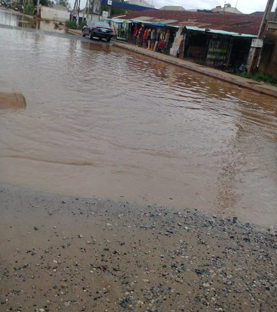 Scores Displaced By Torrential Rain In Asaba