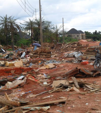 Obiano In Action: Demolition Of Prostitution/Armed Robbers Den In Awka