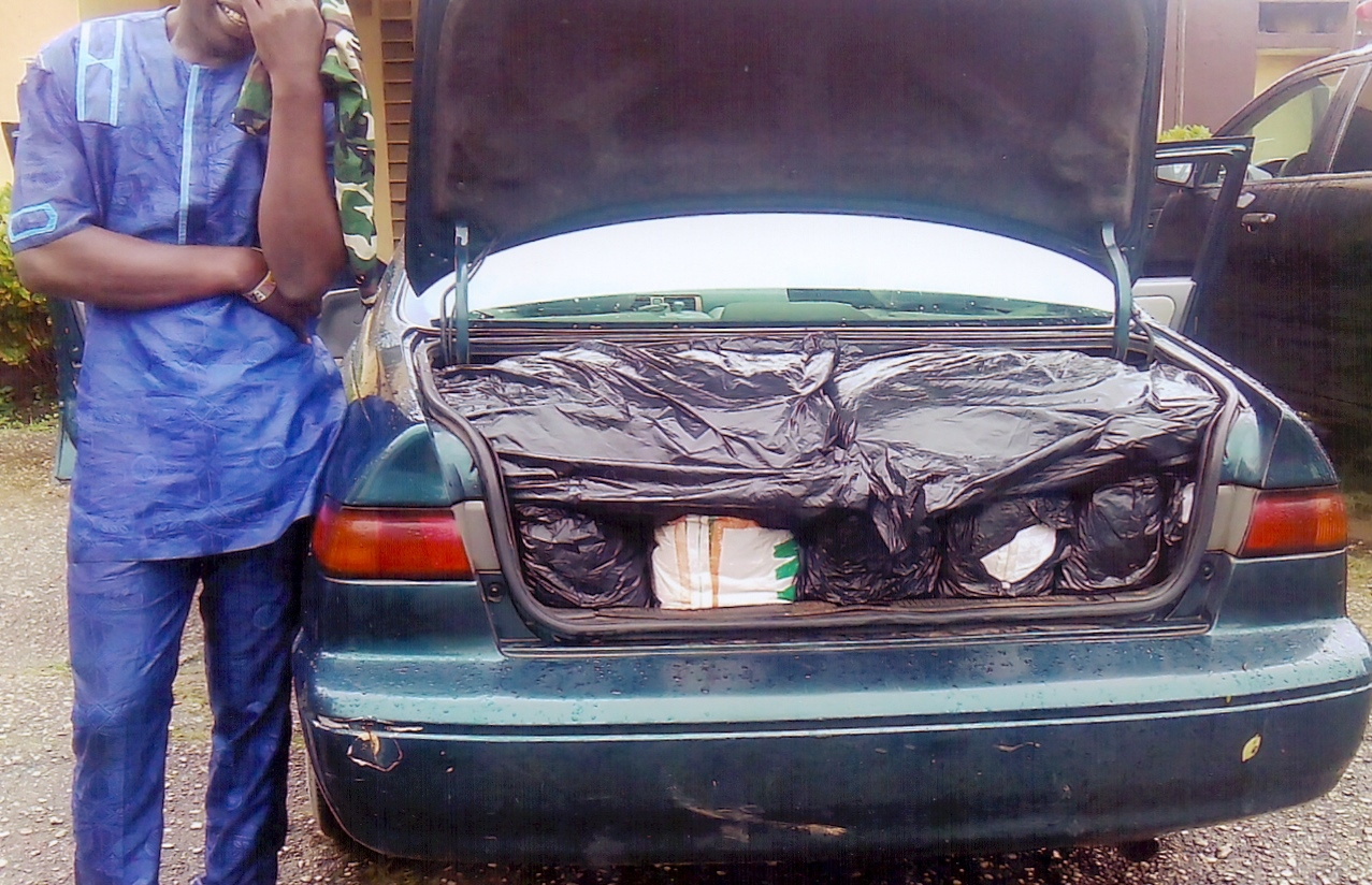 emmanuel ogbonna with the drugs in his car