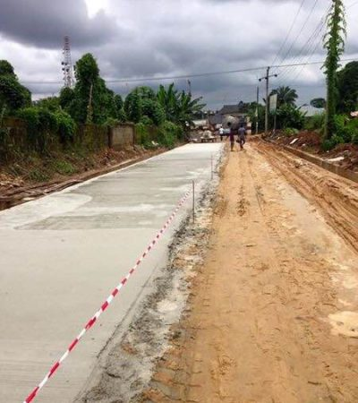 Abia  Completes Road Work with Cement Technology