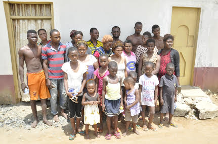 The rescued pregnant ladies, teenagers and other  suspects