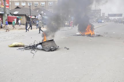 Azikiwe road deserted during the incident