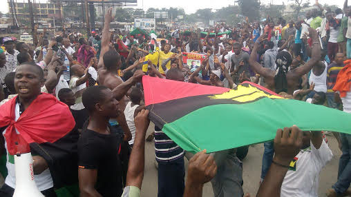 IPOB members during the protest