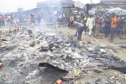 Some of the wares burnt in the incident