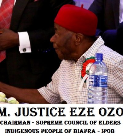 Presumed IPOB Founder, Justice Eze Ozobu denounces Radio Biafra and Nnamdi Kanu,as Igbo Mandate Congress Seeks Release of Protesters