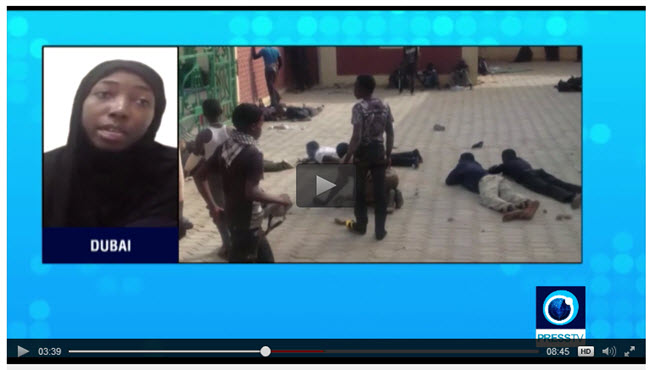 """PressTV Interview With Dr. Nusaiba Zakzaky, Daughter Of Cleric Sheikh """"My Father Was Shot"""""""