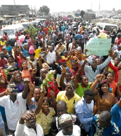 Abia On Lockdown: Ukwa-Ngwa People Protest Abia guber Appeal Court judgment