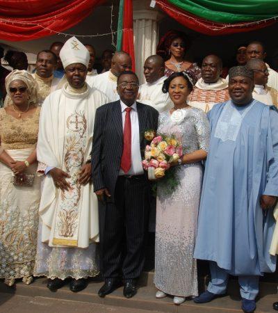 Senator Jim Nwobodo Abandons Anglican Church…Re-weds In Catholic Church