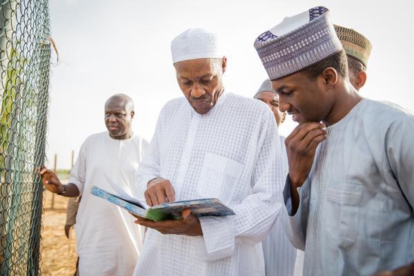 Buhari with son