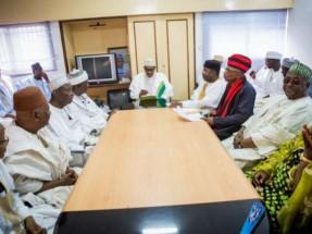 President Buhari with members of ACF