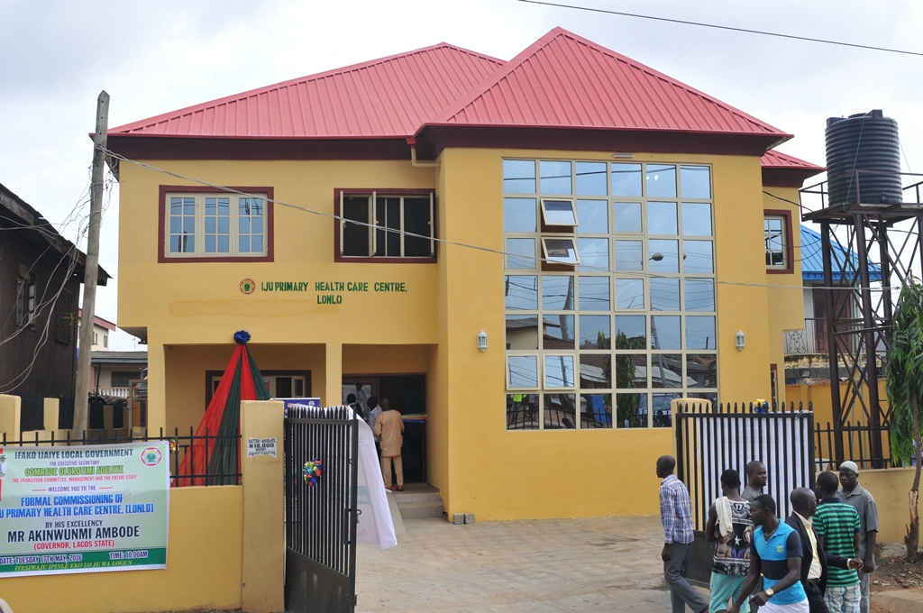 The newly commissioned  Iju Public Health Centre, Lonlo, Iju In Ifako-Ijaiye Local Government by Governor Akinwunmi Ambode on Tuesday, May 17, 2016.