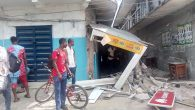 Demolition of phone dealers shops at St.Micheals road