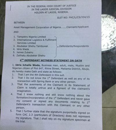 Wada to AMCON: Plot to Criminalize Me Will Fail