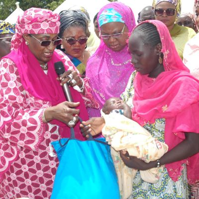 Minister Of Women Affairs Visit To Fufore IDP Camp In Pictures