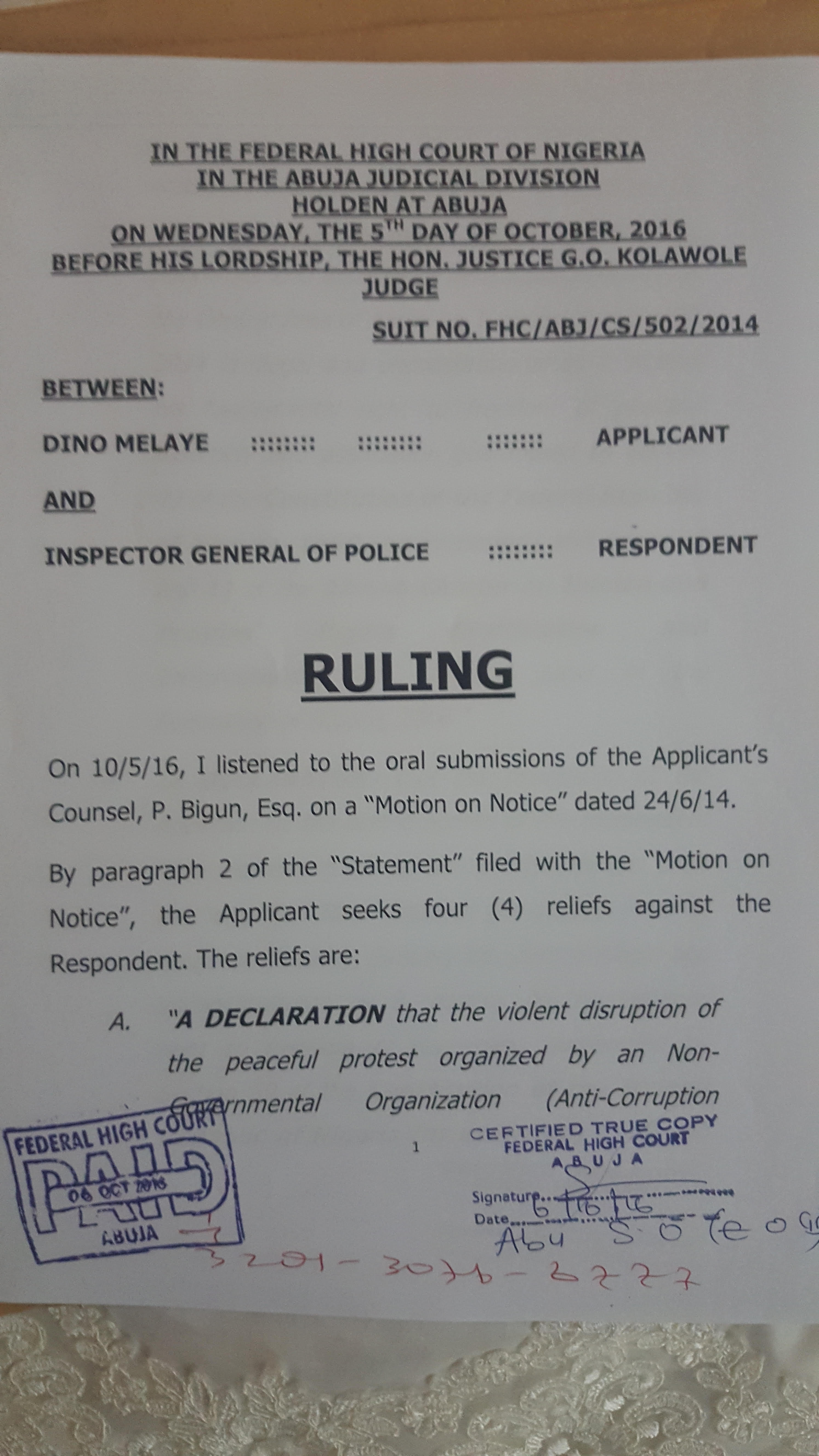 BreakingNews: Court Orders Police To Pay Melaye N10 million