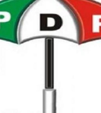 PDP Reconciliation Committee Opts For Political Solution