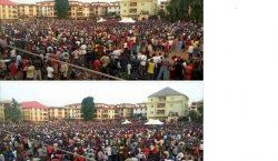 Biafra: Unprecedented Crowd Welcomes Nnamdi Kanu At Onitsha [Video]
