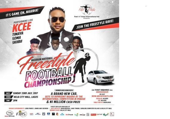 Ikeja City Mall hosts Maiden Edition of Nigerian National Freestyle Football Championship on Sunday