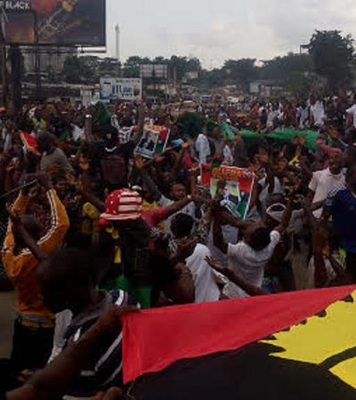 Police Disperse Protesting IPOB Members In Port Harcourt
