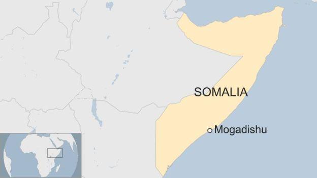 A map showing Mogadishu