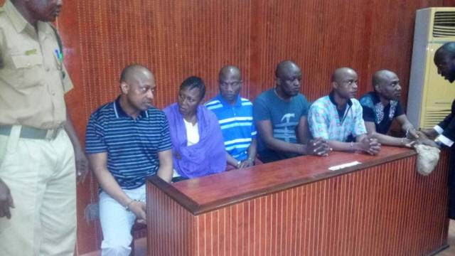 Photos Of Evans At Ikeja High Court