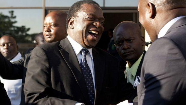 Former Vice President of Zimbabwe Emmerson Mnangagwa