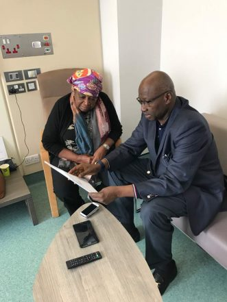 SGF Visits Dr Ekwueme In London Hospital; Conveys President Buhari's Goodwill Message