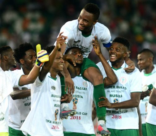 Nigerian players celebrate wives, mums and partners